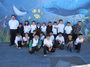 Oscar with his class