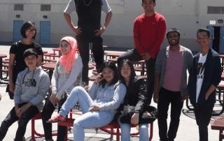 Razan and the Arroyo High ELD class of 2017.
