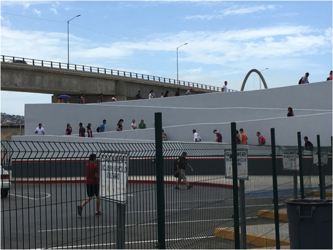 El Chaparral port of entry in Tijuana.