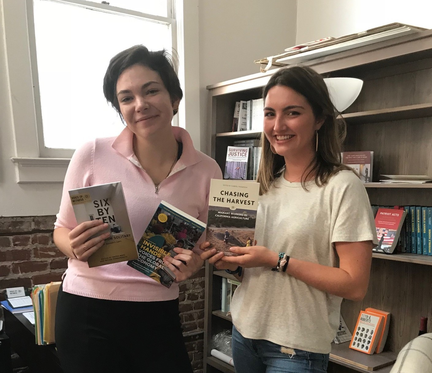 interns with books