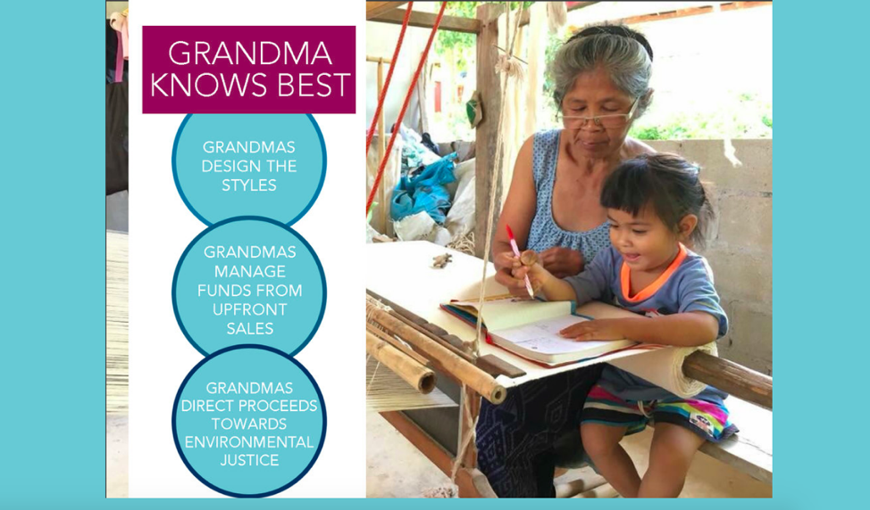 Grandma knows best: our business plan and messaging focus on sharing power with the weavers. RadGram pays weavers for every order upfront, regardless of whether we sell the products. The grandmas know their own needs and the needs of the community better than we ever could so we believe that they should be able make their own choices about how their earnings are spent.  With the profits, RadGram donates 35% to People Who Love Their Hometown, Na Nong Bong's mining resistance organization, and uses the rest to grow the business and prepare for our next order from the grandmas.