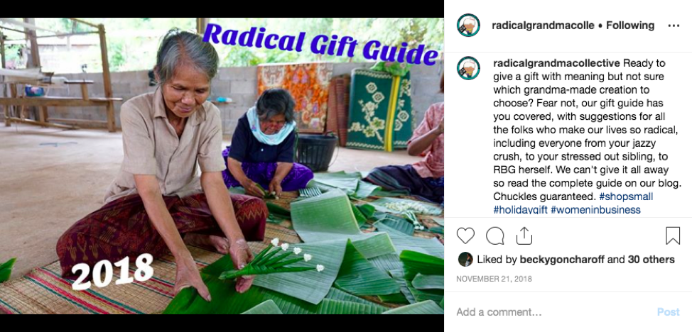 Don't mess with Grandma: RadGram uses social media to keep our followers up to date on the community's fight for environmental justice. We portray the strength and power of the women of Na Nong Bong while still bringing in elements of humor to reflect the joyful side of community organizing as well.