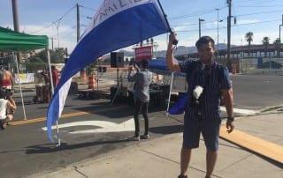 El Paso border Honduran Flag