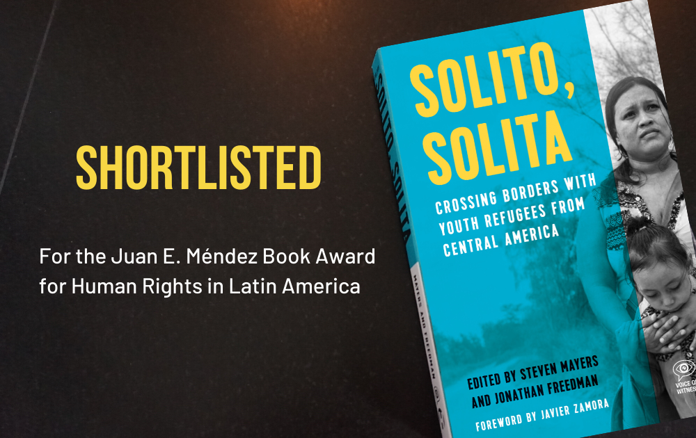 Solito, Solita Shortlisted for Juan E. Méndez Book Award for Human Rights in Latin America